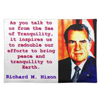 As You Talk To Us - Richard Nixon Placemat