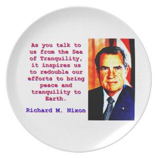 As You Talk To Us - Richard Nixon Plate