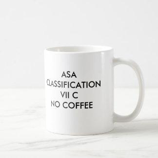 ASA CLASSIFICATION VII CNO COFFEE, ASA CLASSIFI... BASIC WHITE MUG