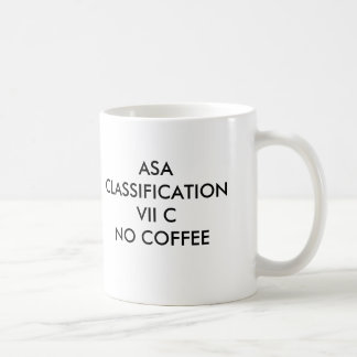 ASA CLASSIFICATION VII CNO COFFEE, ASA CLASSIFI... CLASSIC WHITE COFFEE MUG