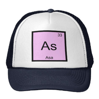 Asa Name Chemistry Element Periodic Table Trucker Hat