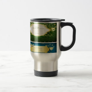 Asadal Golden Frames design Stainless Steel Travel Mug
