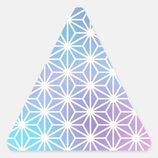 Asanoha Legend Triangle Sticker
