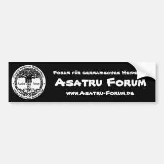 Asatru forum logo bumper sticker