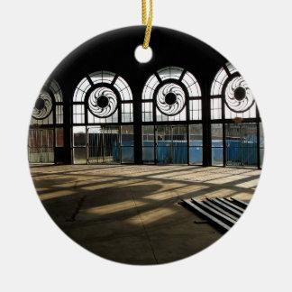 Asbury Park Casino carousel house interior Ceramic Ornament