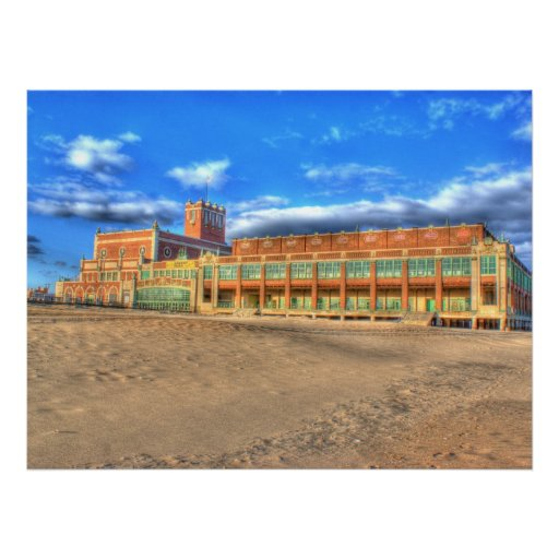 Asbury Park Convention Hall Beach Gloss Canvas Posters