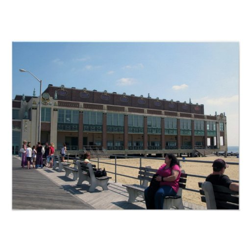 Asbury Park NJ Boardwalk Convention Hall Poster