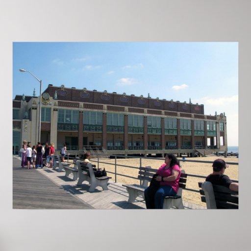 Asbury Park NJ Boardwalk Convention Hall Poster