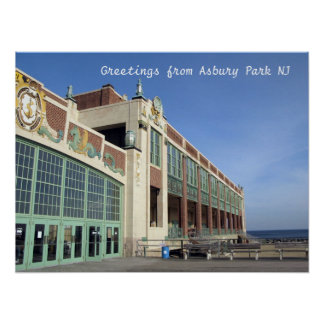 Asbury Park NJ boardwalk - Convention Hall Poster