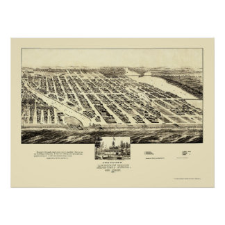 Asbury Park, NJ Panoramic Map - 1897 Poster