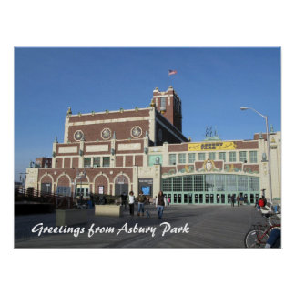 Asbury Park NJ Paramount Theatre & Convention Hall Poster