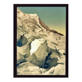 Ascension du Mont Blanc, Chamonix Valley, France v Postcard