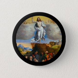 Ascension in Golden Clouds 2 Inch Round Button