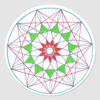 Ascension Mandala Classic Round Sticker