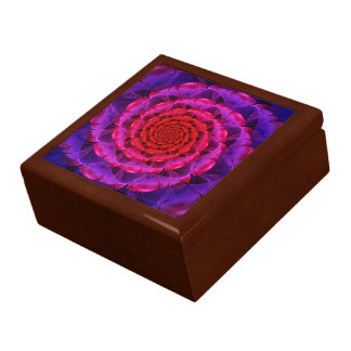 Ascension of a Vermilion Rose Fractal Spiral Bloom Gift Box