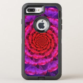 Ascension of a Vermilion Rose Fractal Spiral Bloom OtterBox Defender iPhone 8 Plus/7 Plus Case
