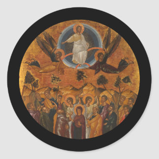 Ascension of Christ in Truth and Love Classic Round Sticker