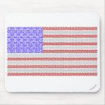 ASCII American Flag Mousepads