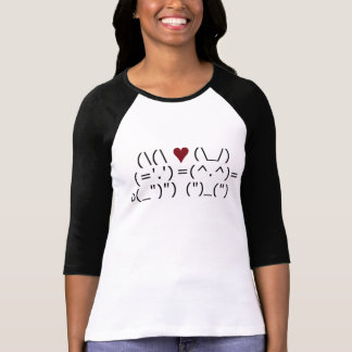 ASCII Bunny Love T-Shirt