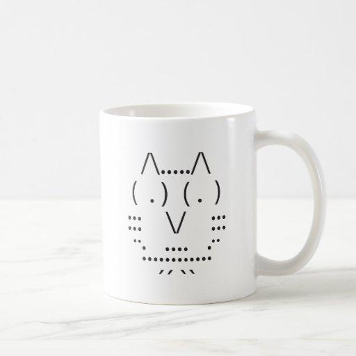 Ascii Owl Classic White Coffee Mug