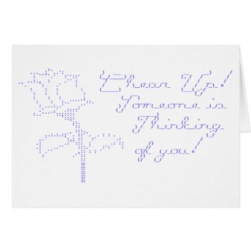 ASCII Rose - Cheer Up Greeting Card