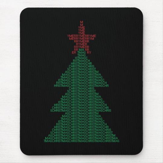 ASCII Xmas Tree Mouse Pad