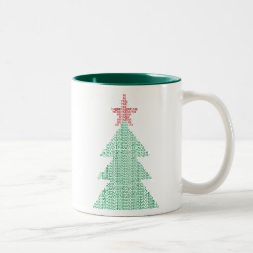 ASCII Xmas Tree Two-Tone Coffee Mug
