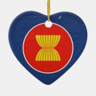 asean ceramic heart ornament