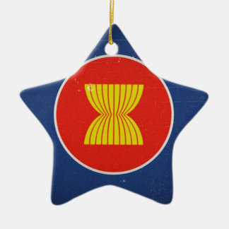 asean Double-Sided star ceramic christmas ornament