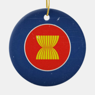 asean round ceramic ornament