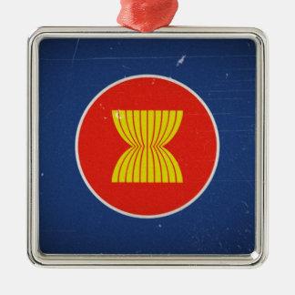 asean Silver-Colored square ornament