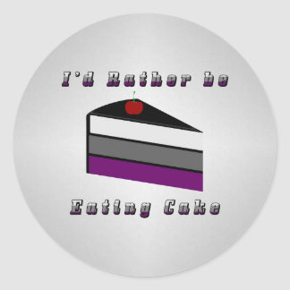 Asexual Cake Classic Round Sticker