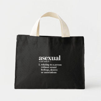asexual definition - defined lgbtq terms - LGBT De Mini Tote Bag