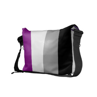 Asexual flag messenger bag
