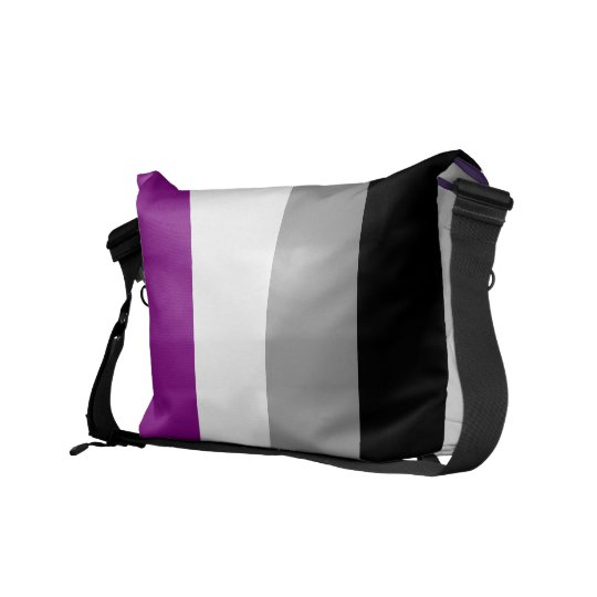 Asexual flag messenger bag