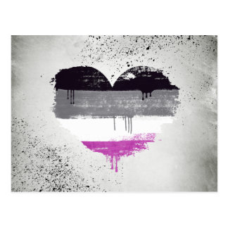 ASEXUAL HEART - ASEXUAL LOVE - POSTCARD