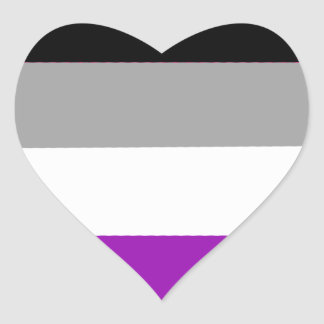 Asexual LGBTQA Pride Heart Sticker