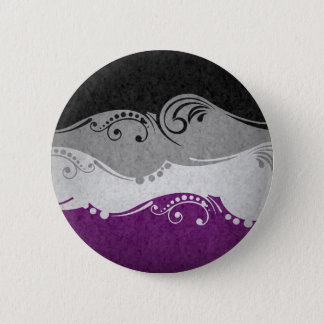 Asexual Ornamental Flag 2 Inch Round Button