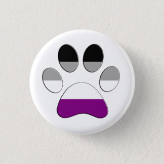 Asexual Paw 1 Inch Round Button