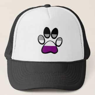 Asexual Pawprint Trucker Hat
