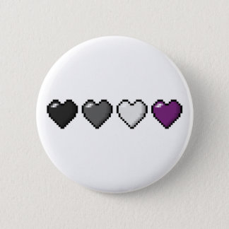 Asexual Pixel Hearts 2 Inch Round Button