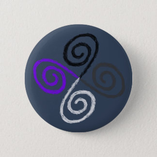 Asexual Pride 2 Inch Round Button