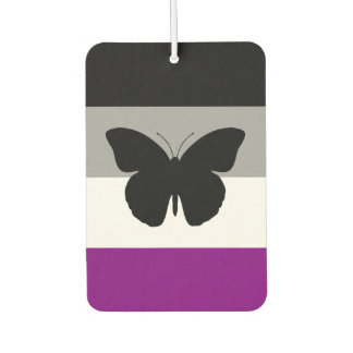 Asexual Pride Butterfly Air Freshener
