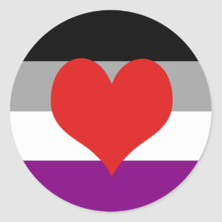 Asexual Pride Classic Round Sticker