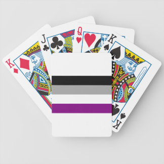 Asexual Pride Flag Bicycle Playing Cards