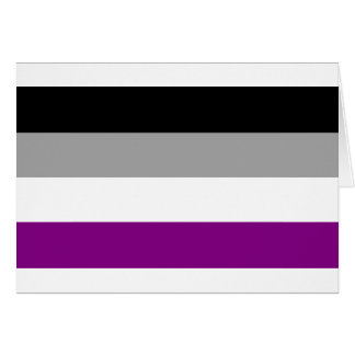 Asexual Pride Flag Card