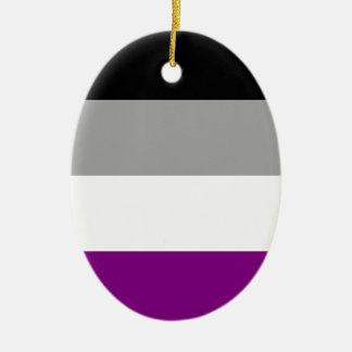 Asexual Pride Flag Ceramic Oval Ornament