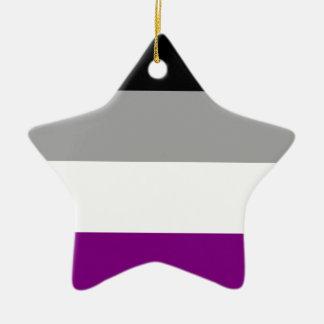 Asexual Pride Flag Ceramic Star Ornament