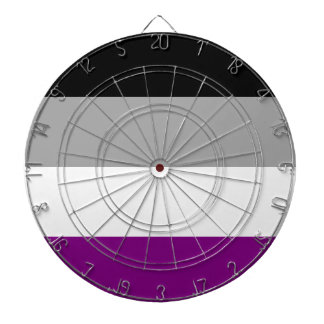 Asexual Pride Flag Dartboard