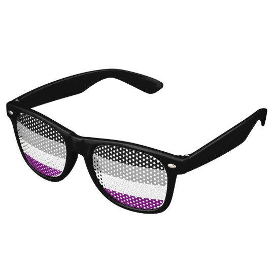 Asexual Pride Flag Party Sunglasses